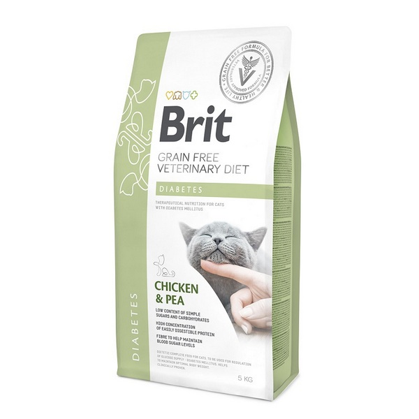 Brit Diabetes κλινικη διαιτα για γατες για διαβητη ρυθμιση ζακχαρου
