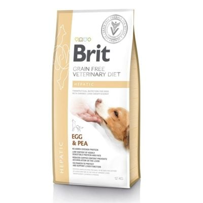 ΗBrit Hepatic Veterinary κλινικη διαιτα για σκυλους Grain Free για Ηπατικη ανεπαρκεια