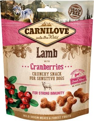 Carnilove snack σνακ λιχουδιες σκυλων αρνι και Cranberries τραγανα με φρεσκο κρεας ανοσοποιητικο