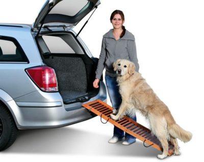 flamingo πτυσσομενη ξυλινη ραμπα σκυλου για αυτοκινητο - καναπε