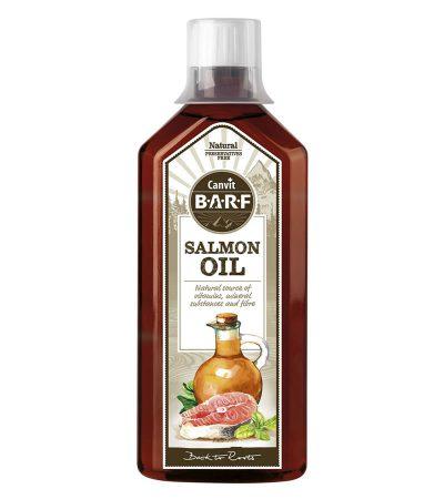 Canvit Salmon Oil συμπληρωμα διατροφης λαδι σολομου γατας βιταμινες σκυλων - υγιες δερμα & λαμπερο τριχωμα