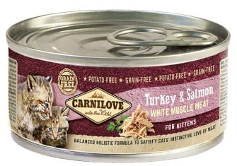 Carnilove Turkey Salmon ολιστικη κονσερβα για γατακια Grain Free με γαλοπουλα και σολομο