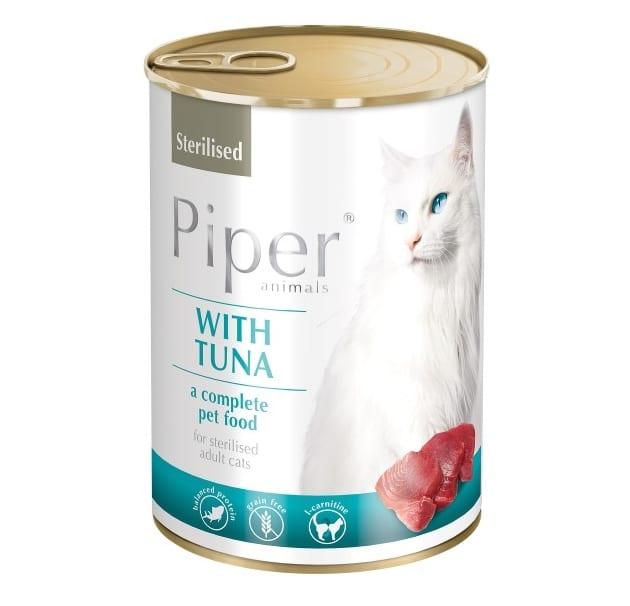Piper κονσερβα για στειρωμενες γατες με τονο