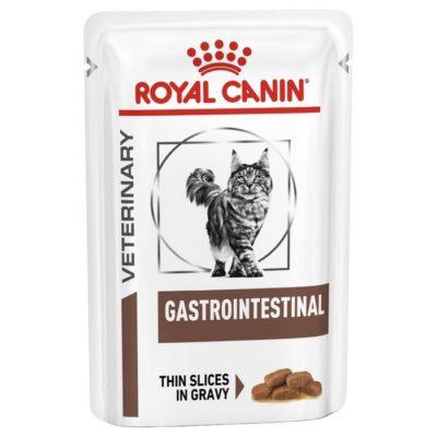 Η Royal Canin Gastro Intestinal κονσερβα κλινικες διαιτες γατας με χρονια, οξεια διαρροια, γαστρεντεριτιδα, κολιτιδα