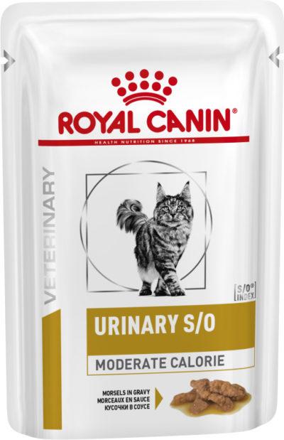Royal Canin Urinary Moderate Calorie κλινικες διαιτες γατας κονσερβα για ουρολιθιαση