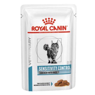 Royal Canin Sensitivity Control κλινικες διαιτες γατας τροφες κονσερβα για τροφικες αλλεργιες ή τροφικες δυσανεξιες
