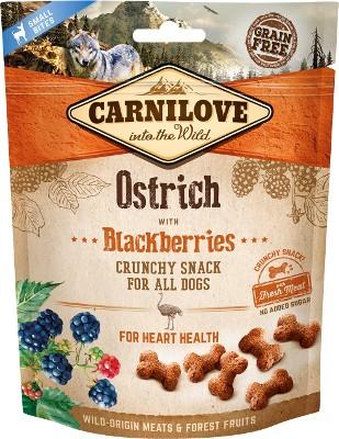 Τα Carnilove σνακ για σκυλο με στρουθοκαμηλο και blackberries grain free απο φρεσκο κρεας με αντιοξειδωτικα