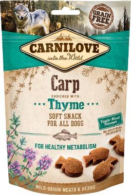 ΤοCarnilove μαλακο σνακ για σκυλους Grain Free λιχουδια κυπρινος με θυμάρι φρεσκο κρεας για γερα δοντια και ουλα