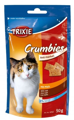 Σνακ λιχουδιες γατας Trixie crumbies με βυνη και τριχομπαλες