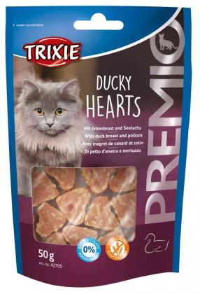 Λιχουδια γατας σνακ Trixie Premio hearts με παπια