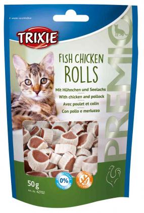 Οι Λιχουδιες σνακ για γατες Trixie Premio Fish Chicken με ψαρι και κοτοπουλο