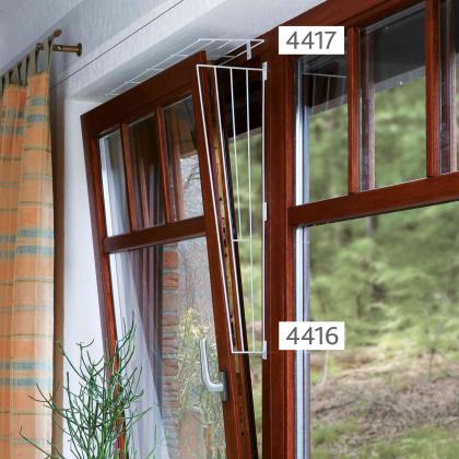 Trixie protective grille - προστατευτικο διαχωριστικο σε ανακλιση παραθυρου γατας επανω μερος