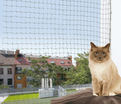 Trixie protective net reinforced ενισχυμενο προστατευτικο διχτυ γατας μπαλκονιου πλεγμα παραθυρου