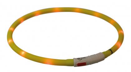Trixie USB flash lightring - φωτιζομενο περιλαιμιο επαναφορτιζομενο σκυλου