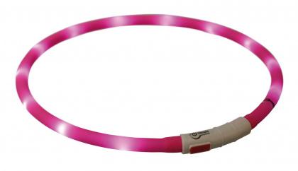 Trixie USB flash lightring - φωτιζομενο περιλαιμιο επαναφορτιζομενο για σκυλους