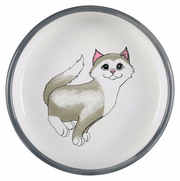 Trixie κεραμικο πιατακι για γατες με κοντη μουσουδα