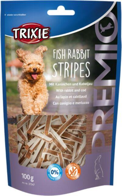 trixie snack premio fish rabbit stripes - σνακ για σκυλο με ψαρι και κοτοπουλο