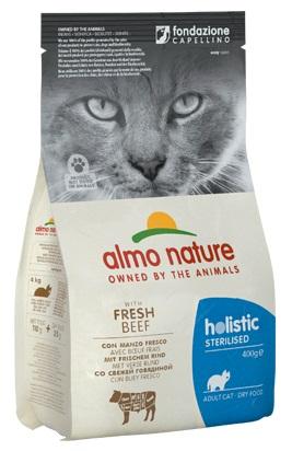ΗAlmo Nature τροφη για στειρωμενες γατες Holistic Beef με μοσχαρι