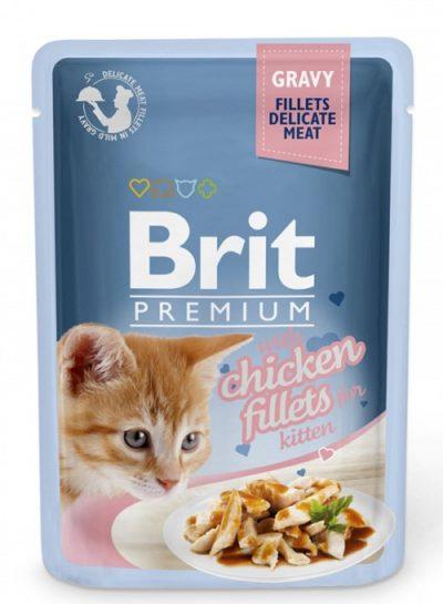 Brit Premium pouches kitten φακελακια υγρη τροφη για γατακια με κοτοπουλο