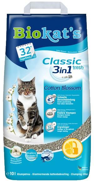 H Αμμοι γατας Biokat's Classic 3in1 Cotton Blossom