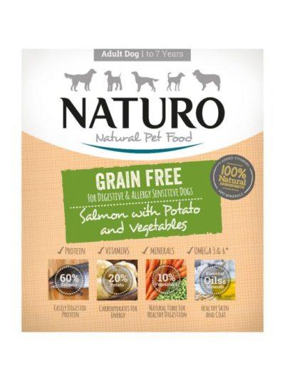ΗNaturo Salmon Grain Free κονσερβα σκυλων με σολομο υποαλλεργικη