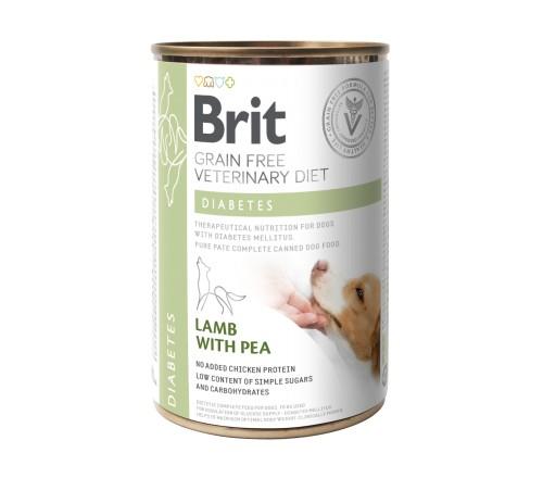 Brit Diabetes VD κλινικες διαιτες κονσερβα για σκυλους Grain Free - σακχαρωδης διαβητης σκυλου