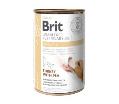 VD Brit Hepatic κονσερβα σκυλου κλινικη διαιτα Grain Free για σκυλους με χρονια Ηπατικη ανεπαρκεια