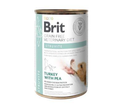 ΗBrit Struvite VD κλινικη διαιτα κονσερβα σκυλου Grain Free για διαλυση στρουβιτη - ουρολιθιαση σκυλου