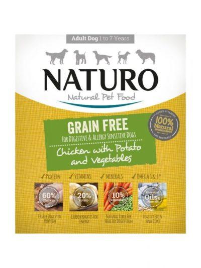 Οι Naturo Chicken Potato Grain Free κονσερβες για σκυλους κοτοπουλο και πατατα