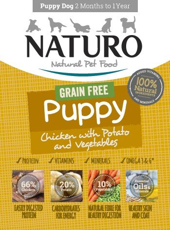 Naturo Puppy Chicken κονσερβα για κουταβια σε ταψακι κοτοπουλο και λαχανικα