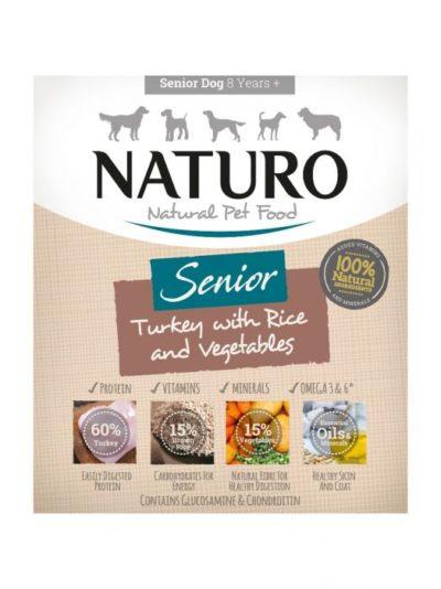 ΗNaturo Senior Turkey κονσερβα για ηλικιωμενους σκυλους γαλοπουλα και ρυζι