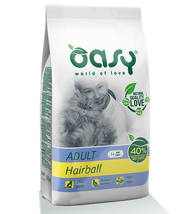 Oasy Hairball ξηρα τροφη για γατα για αποβολή τριχόμπαλων