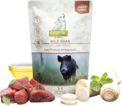 Isegrim Wild Boar Pouch υγρη τροφη για σκυλους κονσερβα με αγριοχοιρο μονοπρωτεινικη Gluten Grain Free