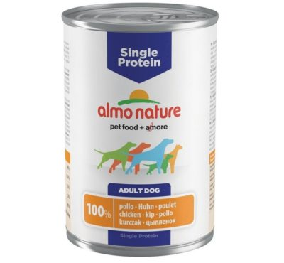 Almo Nature Holistic μονοπρωτεινικη κονσερβα για σκυλους με κοτοπουλο