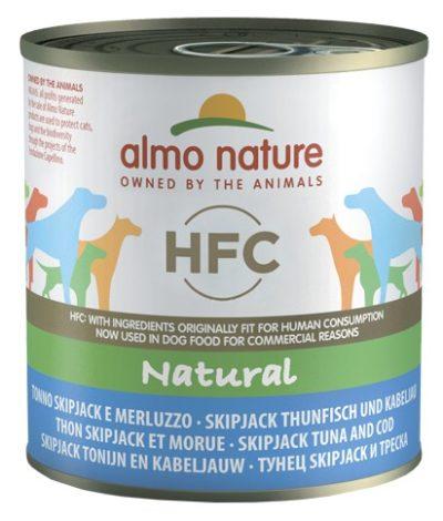 ΗAlmo Nature Natural HFC κονσερβες για σκυλους με παλαμιδα και μπακαλιαρο