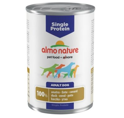 Almo Nature Holistic μονοπρωτεινικες κονσερβες για σκυλους με παπια