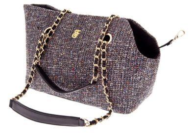 Ferribiella Luxury Tweed Black για γατα τσαντα μεταφορας σκυλου