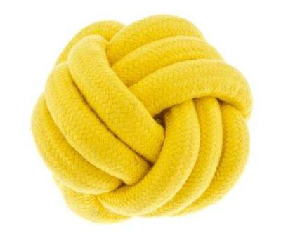 ΤαFerribiella Yellow Knot Ball ανθεκτικα παιχνιδια σκυλου μπαλα απο σχοινι