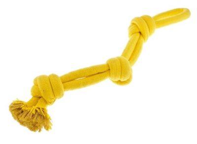 Το Ferribiella Yellow 3 Knots Rope ανθεκτικο παιχνιδι για σκυλους σχοινι με 3 κομπους