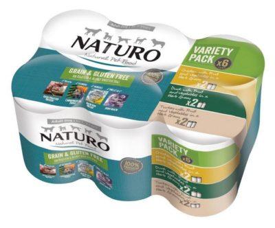 Naturo πολυσυσκευασια Gluten Free κονσερβες σκυλων με ευαισθητο στομαχι 6 Χ 390gr