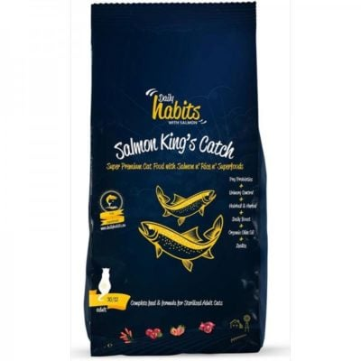 Daily Habits Super premium Salmon King's Catch τροφες στειρωμενης γατας με σολομο και ρυζι