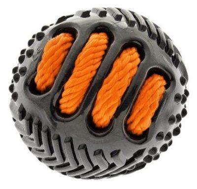 Ferribiella Black Ball w/rope TPR ανθεκτικο παιχνιδι για σκυλους