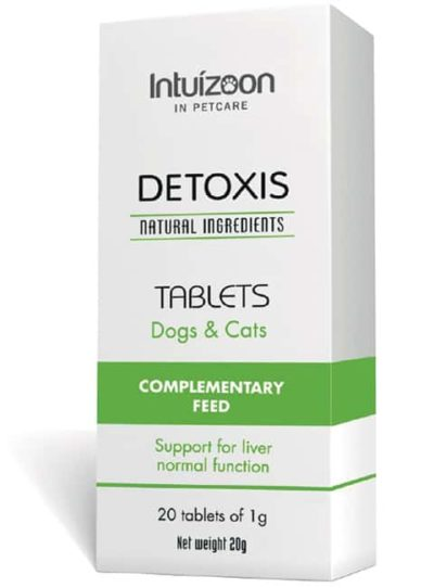 Intuizoon Detoxis φυσικο συμπληρωμα διατροφης σκυλου για ηπατοπαθεια γατας