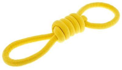 Ferribiella Yellow Knots Rope ανθεκτικο παιχνιδι σχοινι για σκυλους με κομπους