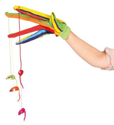 ΤοTrixie Glove παιχνιδι γατας γαντι με κρεμαστα παιχνιδια