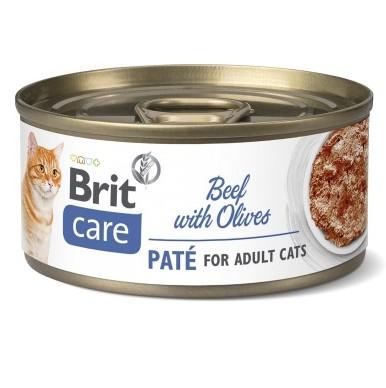 Brit Care Pate Beef with Olives κονσερβα γατας μοσχαρι με ελιες