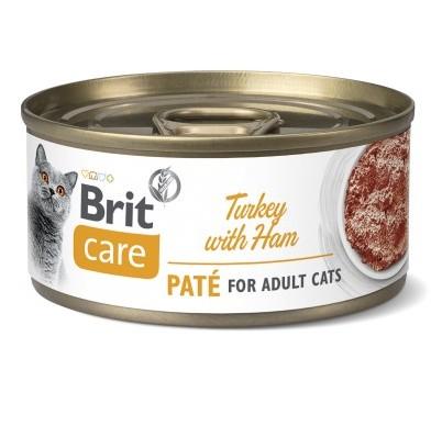 Brit Care Pate Turkey κονσερβες γατας γαλοπουλα με ζαμπον