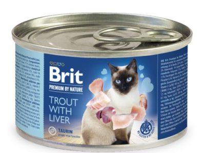 Brit Premium Trout κονσερβα πατε για γατες υψηλης ποιοτητας με πεστροφα και συκωτι.