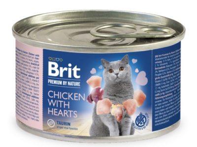 Brit Premium Chicken & chicken Heart κονσερβα πατε υψηλης ποιοτητας για ενηλικη γατα κοτοπουλου και καρδιας κοτοπουλου