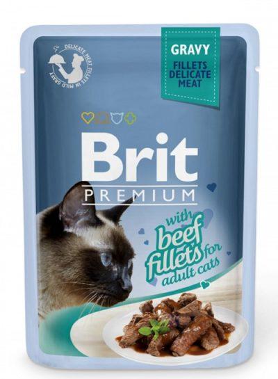 Brit Premium pouches Gravy Beef φακελακια για γατες υγρη τροφη μοσχαρι